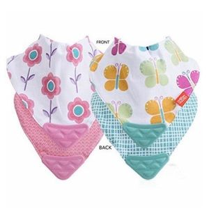 🆓 With Bundle! Set of 2 Nuby Teething Bibs